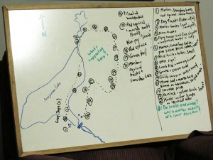The Story and map of our day